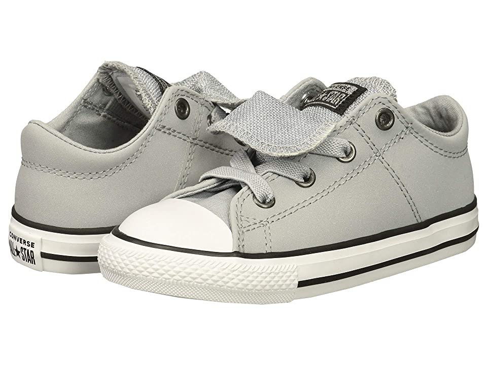 Converse Kids Chuck Taylor All Star Maddie Ox (Infant/Toddler) (Wolf Grey/Black/White) Girl