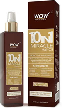 WOW 10 in1 Miracle No Parabens & Mineral Oil Hair Oil, 200mL