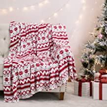 Bedsure Flannel Blanket-Printing-Christmas Traditional Pattern EM1 Throw Size US