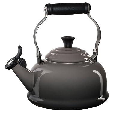 Le Creuset Enamel-on-Steel Whistling Teakettle, 1-4/5-Quart, Oyster