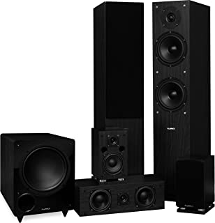 Fluance Elite Series Surround Sound Home Theater 5.1 Channel Speaker System Including Three-Way Floorstanding, Center Chan...