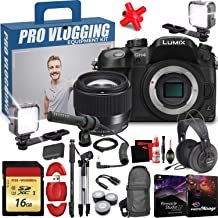 $2178 » Panasonic Lumix DMC-GH4 Mirrorless Micro Four Thirds Digital Camera (Body Only) with Sigma 56mm f/1.4 DC DN Contemporary Lens - Memory Card - LED Lights - Microphone - Pro Vlogging Equipment Kit