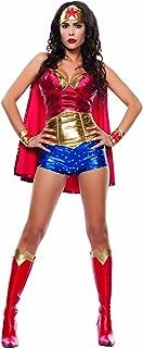 Women's Wonder Lady Sexy 5 Piece Costume Set with Headpiece