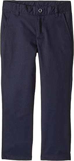 Regular Flat Front Twill Double Knee Pants (Little Kids/Big Kids)