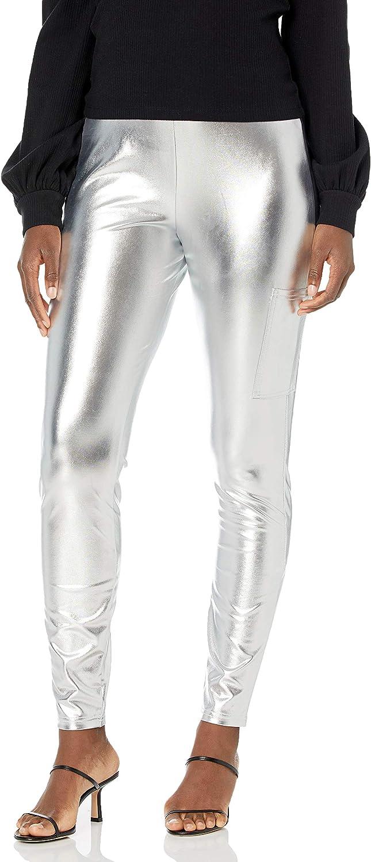 KENDALL + KYLIE Women's Phone Pocket Metallic Leggings