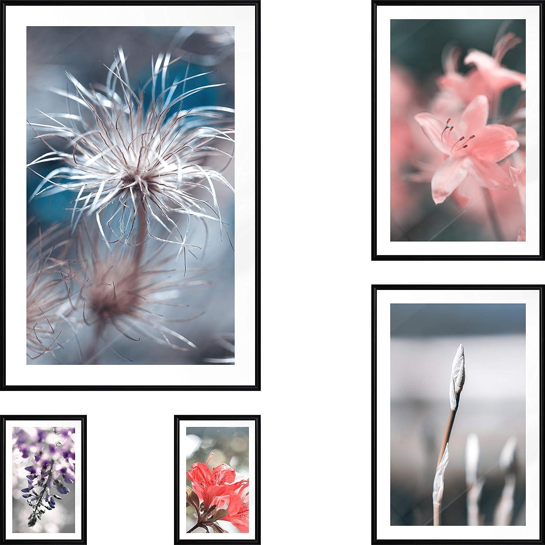 artgeist Set of 5 Posters in a Wall 新作からSALEアイテム等お得な商品 満載 Art Prints Frame Black Artis ご予約品