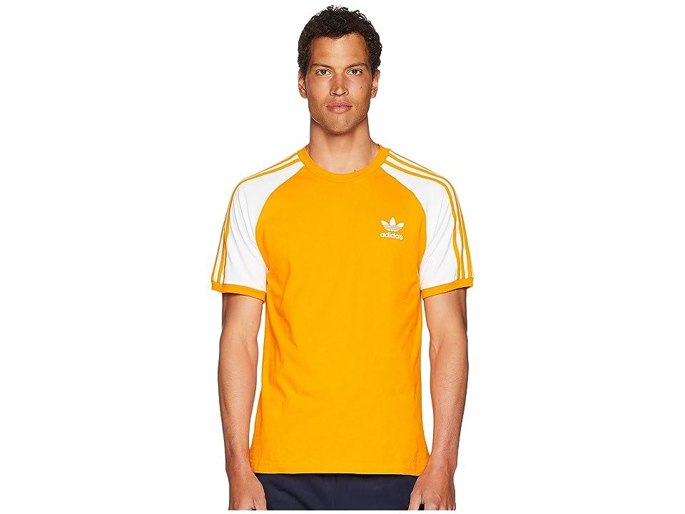 adidas Originals 3-Stripes Tee (Bright Orange) Men's T Shirt