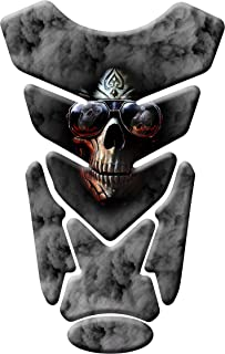 MOTORCYCLE TANK PROTECTOR PAD SKULL - UNIVERSAL - WITH KEYCHAIN