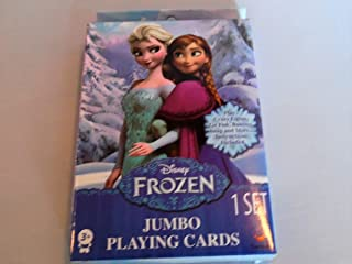 Disney Princess & Frozen Combo Jumbo Playing Cards - Play Go Fish, Crazy 8s, Rumi & More Oversized Kids Card Deck 2 Pack