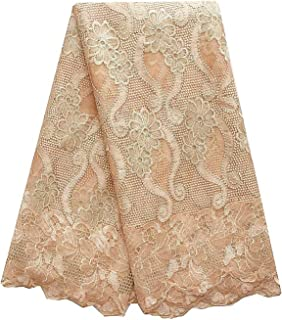 French Fabric Lace Material Dresses Nigeria Lace Fabric Embroidery Lilac Magenta African Lace Fabric for Women,Gold