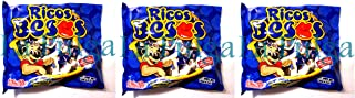 3 - Montes Ricos Besos Chocolate Flavor Toffees Mexican Candy 6 oz Each