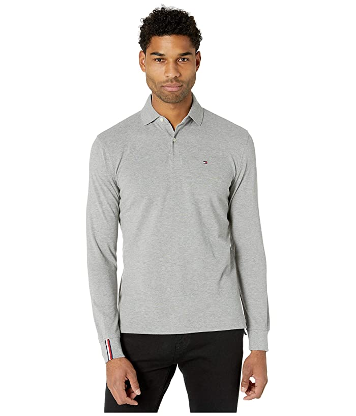 Tommy Hilfiger  Kent Long Sleeve Polo Classic Fit (Sport Grey Heather) Mens Clothing