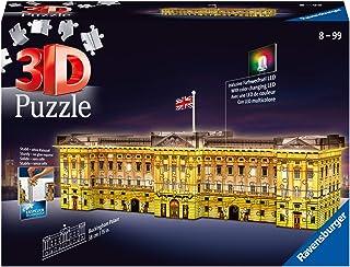 Ravensburger 12529 - 3D Pussel byggnader med ljus Buckingham Palace - 216 bitar - tredimensionell bygglädje & inget lim be...