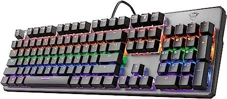 Trust Gaming GXT 865 Asta Tastiera Meccanica Gaming, Switch Red (Tasti Meccanici Rosso), Retroilluminazione, Anti...