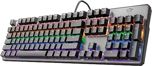 Trust Gaming GXT 865 Asta Tastiera Meccanica Gaming, Switch Red (Tasti Meccanici Rosso), Retroilluminazione, Anti Ghosting...
