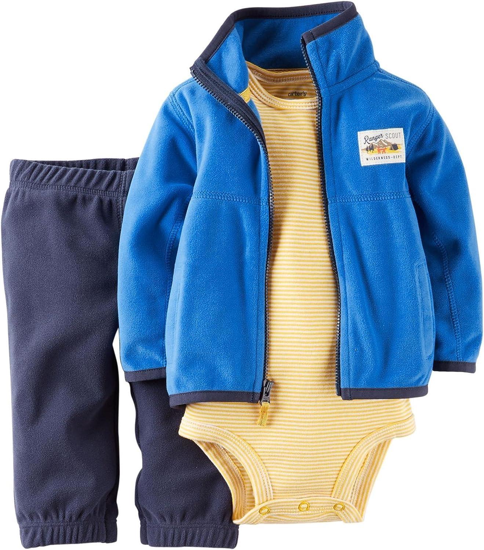 Carter's Baby Boys' 3 Piece Cardigan Set (Baby) - Navy - 9 Months