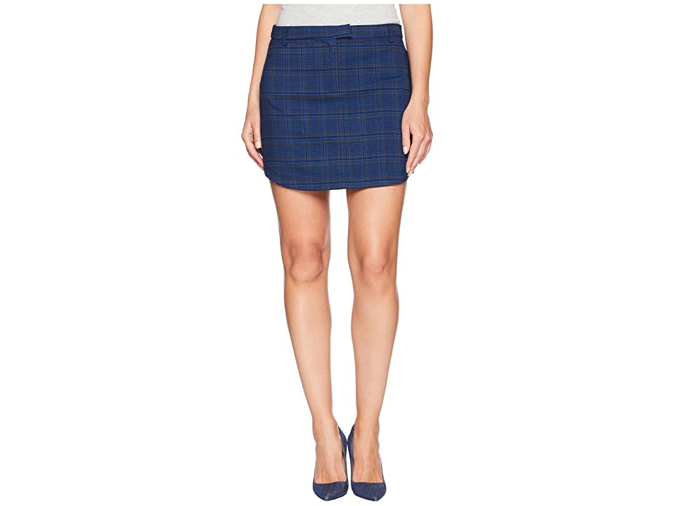 BB Dakota Meet Me In Detention Plaid Skirt (Admrial Blue) Women
