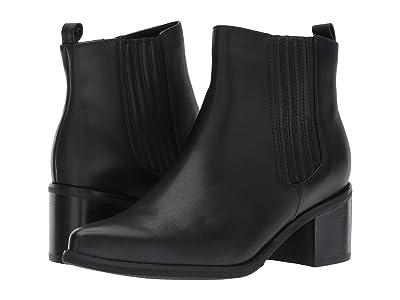 Blondo Elvina Waterproof Bootie (Black Leather) Women