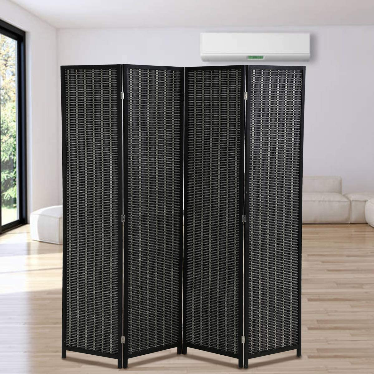 Room Divider Privacy Screen Partition 72 期間限定 Inches Tal お得 Panel 4