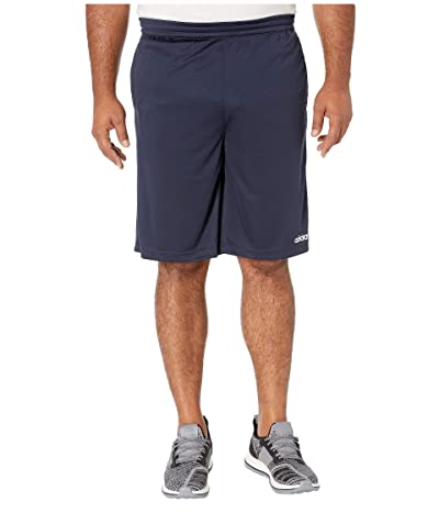 adidas Big Tall D2M 3-Stripe Shorts (Legend Ink) Men