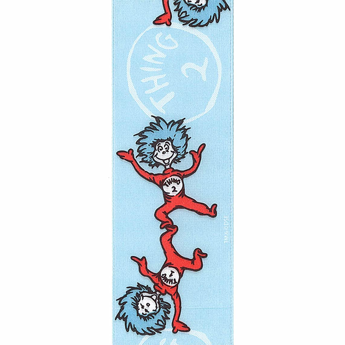 Offray Dr. Seuss Craft Ribbon, 1 1/2-Inch x 9-Feet, Thing One Thing Two