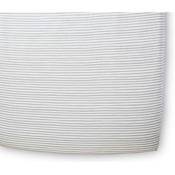 Pehr Stripes Away Crib Sheet - Pebble, Multi