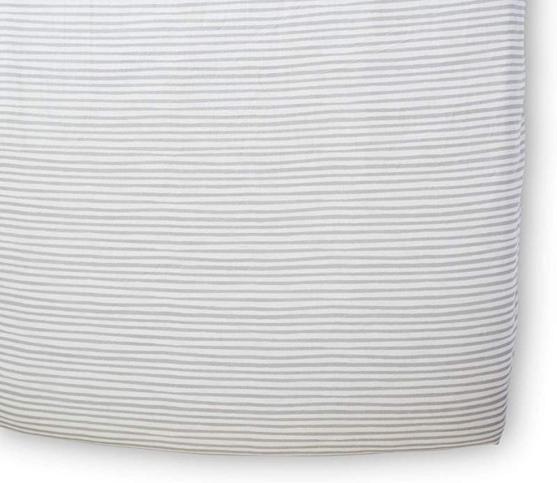 Pehr Stripes Away Crib Sheet Pebble Multi