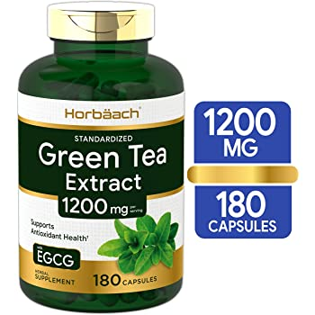 EGCG Green Tea Extract Pills   1200 mg 180 Capsules   Max Potency   Non-GMO & Gluten Free Supplement   by Horbaach
