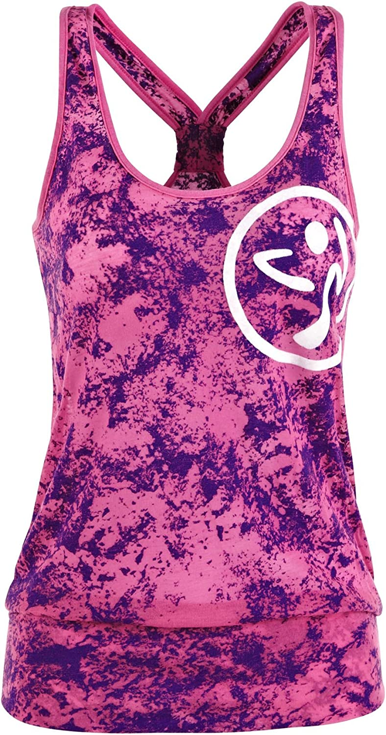 Sports  Outdoors  Zumba Fitness Women's to Bubble Top and Beyond Tank
