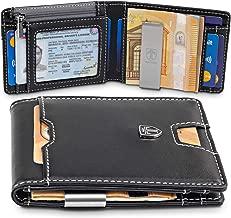 TRAVANDO Geldbeutel mit Geldklammer Dubai Geldbörse Herren klein Slim Wallet Männer Münzfach RFID Portemonnaie Portmonaise Geldtasche Kreditkartenetui Brieftasche Portmonee Geschenk Kartenetui