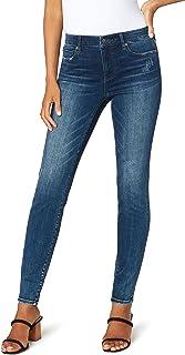 Liverpool Jeans Company Women's Abby Skinny Jean in Silky Soft Grey Slub Stretch Denim - Gray