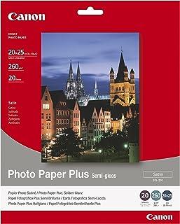 Canon consumible papel fotográfico plus semi-brillante SG-201 20x25 cm 20 hojas
