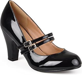 Womens Mary Jane Faux Leather Pumps