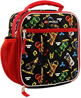 Lego Ninjago Masters of Spinjitzu Boys Soft Insulated School Lunch Box (One Size, Black/Red)