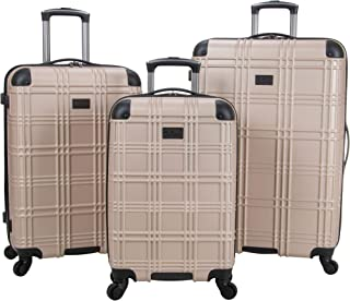 "Ben Sherman Nottingham Lightweight Hardside 4-Wheel Spinner Travel Luggage, Light Gold, 3-Piece Set (20""/24""/28"")"