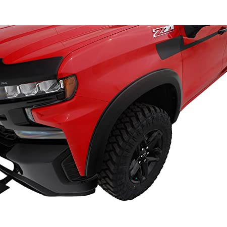 Paintable Fine-Textured Matte Black Factory Style Fender Flare Set Tyger Auto TG-FF6C4338 for 2019-2021 Chevy Silverado 1500 4 Piece