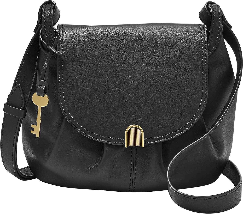 Fossil Women's Gigi Leather Flap Crossbody Purse Handbag