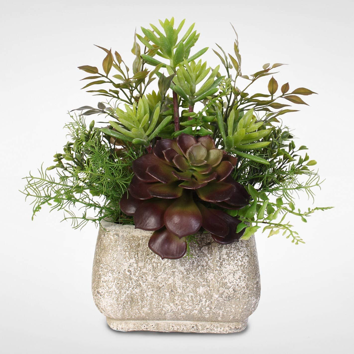 Artificial Succulent Arrangement Free shipping anywhere in the Genuine Free Shipping nation Pot A Stone
