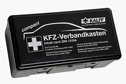 KALFF KFZ-Verbandkasten Compact DIN 13164 mit Erste-Hilfe Broschüre