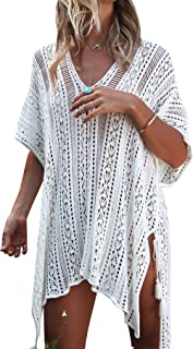 Jeasona Women's Bathing Suit Cover Up Beach Bikini Swimsuit Swimwear Crochet Dress