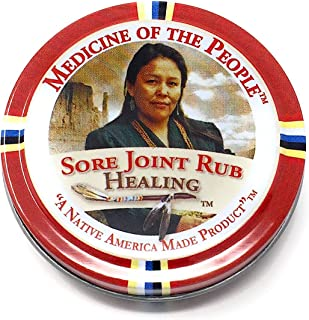 Sore Joint Rub Healing Salve Ointment for Arthritis, Muscle Pain by Medicine of The People .75 oz
