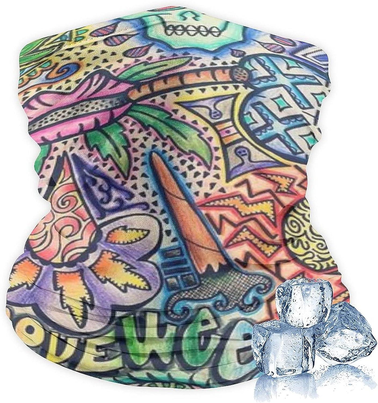 Unisex Neck Gaiter Face Mask Reusable Cloth Bandana Balaclava Cover Scarf Shield