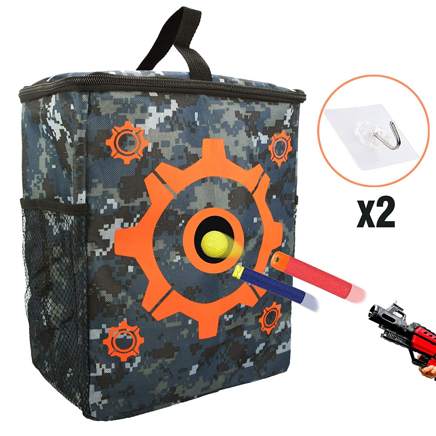 Flantor Target Pouch Bag, Compatible with Nerf Guns Darts N-Strike Elite Target Shooting Bullets Bag Carry Equipment Bag (Target Pouch Bag) wsdfrwymsgq318