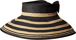 UBV042 Roll Up Visor with Stripe Pattern and Bow Closure