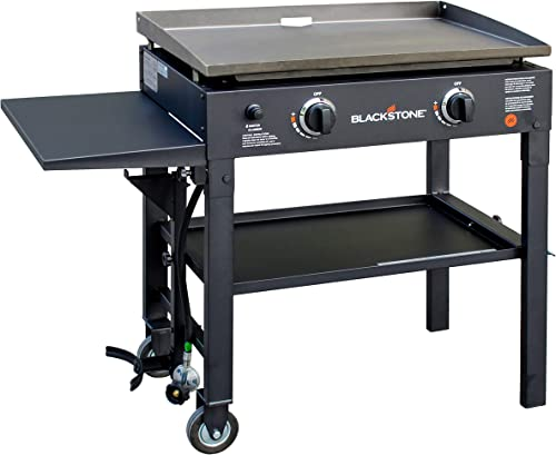 Blackstone 28 inch Outdoor Flat Top Gas Grill Griddle Station - 2-burner - Propane Fueled - Restaurant Grade - Profes...