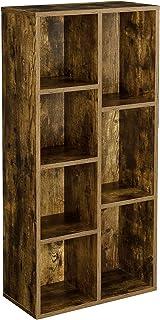 [en.casa] Biblithèque Design Meuble de Rangement Étagère de 7 Compartiments de Stockage Capactié de Charge 5 kg par Casier...