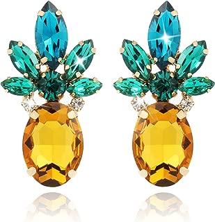 Best pineapple crystal earrings Reviews