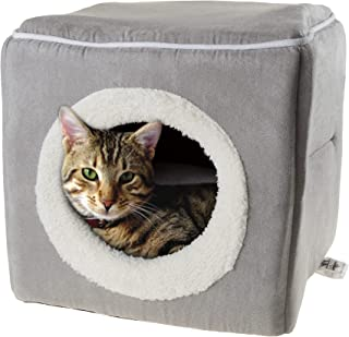 PETMAKER 80-PET6018 Cat Pet Bed, Cave- Soft Indoor Enclosed Covered Cavern/House for Cats, Kittens, and Small Pets with Re...