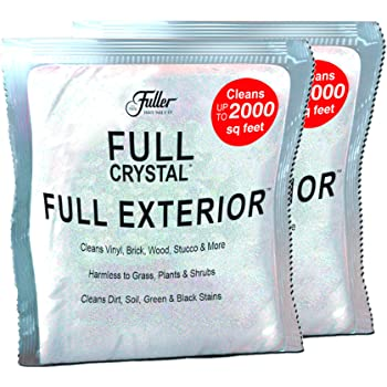 Full Exterior Refill Kits-Crystal Powder Outdoor Cleaner Packets Non-Toxic, No Scrub, No Rinse Cleaning Solution 8oz. (2 4oz Bags) Refill Kit - Shipped Product Packaging May Vary