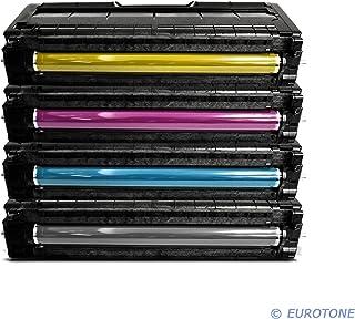 Eurotone Toner Kartuschen für Ricoh Aficio : SP C250SF / SP C250DN ersetzten BK C Y M Patronen im Spar Set   kompatible Premium Kit Alternative